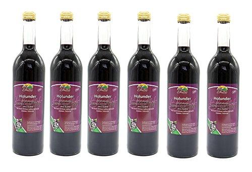 BLEICHHOF® [6er Pack] Holundersaft – 100% leckerer Direktsaft – Frische Früchte – ohne Zuckerzusatz und Zusatzstoffe…