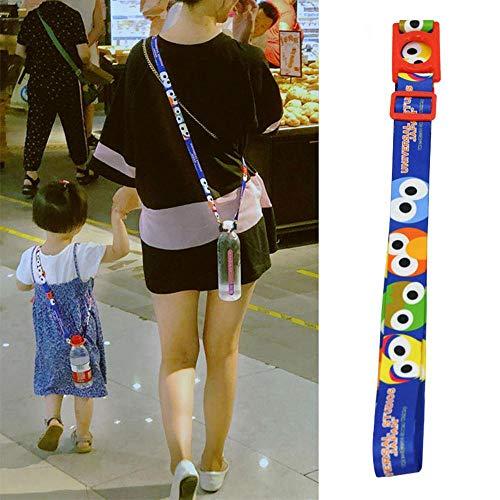 Aolvo Wasser Flasche Lanyard Band Japanische Fashion, [2018New] Kawaii Verstellbare Drink Flasche Sling Universal Wasser Flasche Carrier/Halterung für Erwachsene und Kinder Camping Outdoor Travel