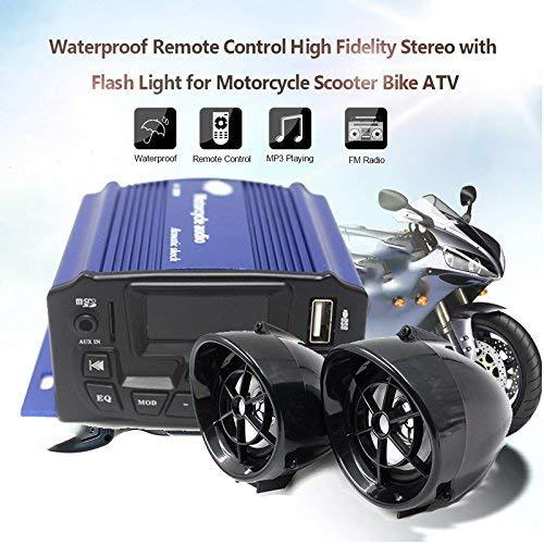 Ghgfjkjhhl Sedeta® 3inch wasserdichter Diebstahl-Motorrad-Audio-Lautsprecher MP3-Spieler mit Fernbedienung für Outdoor vheiles (Color : -, Size : -) - 12 Volt-computer-lautsprecher