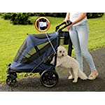 Pet Gear No-Zip Excursion Zipperless Entry Pet Stroller for Single or Multiple Pets, Candy Red 10