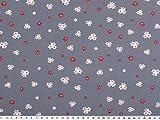 ab 1m: Mathildas Popeline, Baumwolldruck, Blumen