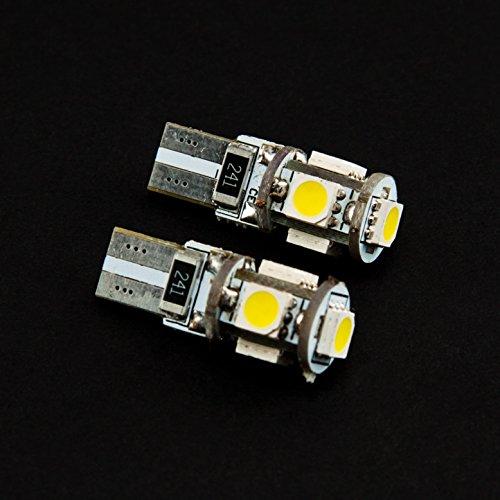 Preisvergleich Produktbild 2x LED T10 5 SMD 8000K 12V XENON WEISS WHITE 5050 CANBUS 2 Stück Lampen für Innen- Kennzeichen- Einstiegs- Kofferraum- Fussraumbeleuchtung Standlicht Positionslicht