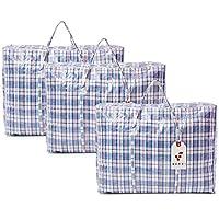 Berri 3 X Large Sacs à Provisions pour la Lessive Zip - Réutilisables/Nouveau (Couleurs Assorties)