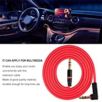 KinshopS 3.5mm 3 Pole Male to Male Record Car aux Audio Cord Headphone Connect Cable