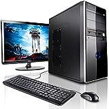 """Megaport Mega-Paket Pack PC Complet Office Desktop • Asus Ecran 22"""" • Claviers et Souris • AMD A4-6300 • 8Go RAM • 500Go • Windows 7 • pc de bureau pas cher • Unité centrale pour ordinateur de bureau"""