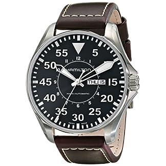 Hamilton Khaki Aviation Pilot Auto – Reloj (Reloj de Pulsera, Masculino, Acero Inoxidable, Acero Inoxidable, Marrón, Zafiro)