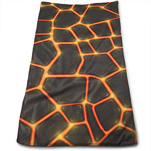Osmykqe Seamless Lava Or Fire Texture Microfiber Personalized 3D Design Pattern Towel, Can Be Used for Hair Towel, Beauty Towel, Sports Towel, Car Towel, Furniture Towel,12x27.5'in - Lava Rost