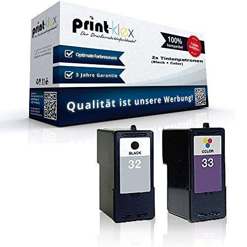 Kompatible Tintenpatronen Sparset für Lexmark NO 32 + 33 X5430 X5435 X5450 X5470 X5470 Business Edition (Für Tintenpatronen Lexmark X5470)