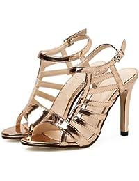GAOLIXIA Zapatos de tacón Alto de la PU de la PU de Verano Sandalias de  Punta 570c2727a1bc