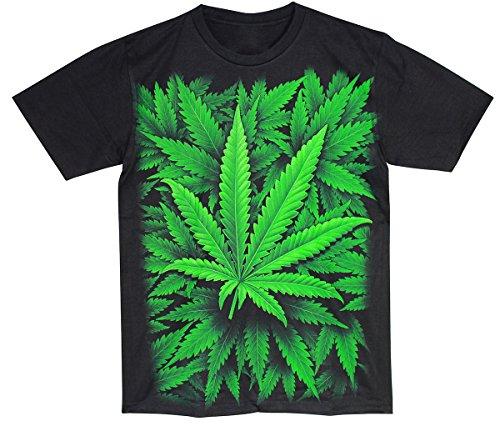 PALLAS Men's Weed Green T Shirt -TN115 Black