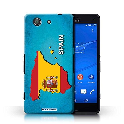 Kobalt® Imprimé Etui / Coque pour Sony Xperia Z3 Compact / Australie conception / Série Drapeau Pays Espagne/Espagnol