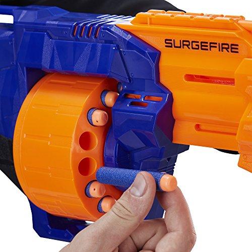 Hasbro E0011EU4 - N-Strike Elite Surgefire Spielzeugblaster, mit Trommelmagazin - 4