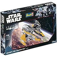 Revell Modellino di Star Wars Anakin S Jedi Starfighter in scala 1: 58, Level 3, Riproduzione fedele all' originale con molti dettagli, facile da incollare e dipingere, 03606