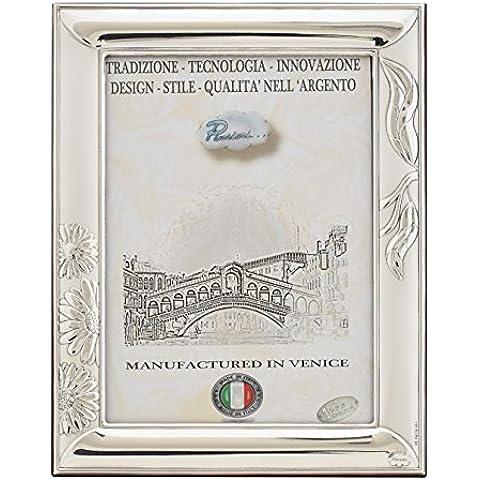 MARGHERITE XL Cornice per Foto 13x18cm Portafoto Argento Made in Italy