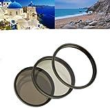 Filter Komplettset 62mm für Digitalkameras bestehend aus UV MC Filter/ Polfilter Zirkular/ Graufilter ND8 z.B. Tamron AF 28-300mm XR DI VC/ AF 70-300mm DI LD / AF 18-200mm XR DI II u.v.a