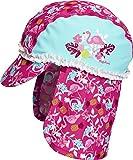 Playshoes Baby - Mädchen Mütze UV - Schutz Bademütze, Badekappe Flamingo 461208, Gr. 49 (Herstellergröße: 49cm), Türkis (Türkis 15)