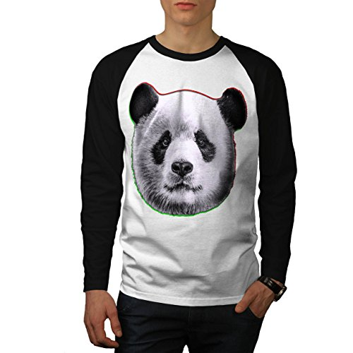 cracked-wood-panda-timber-style-men-new-white-black-sleeves-xl-baseball-ls-t-shirt-wellcoda