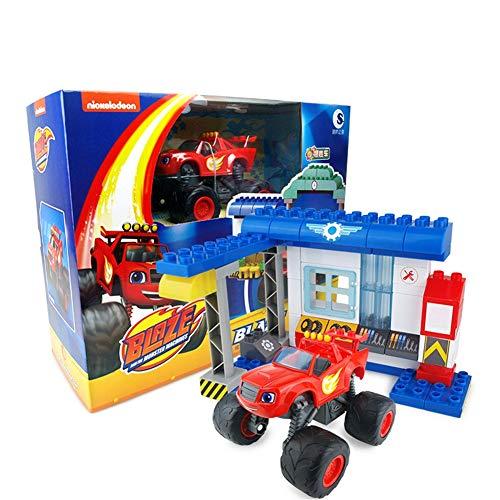 SHYYTYOU Blaze The Monster Machines Fahrzeug, Jungen und Mädchen Spielzeug Brecher LKW Fahrzeuge, Blaze, Zeg, Stripes, Starla, Darington, Pickle - Mädchen, Monster-lkw-spielzeug