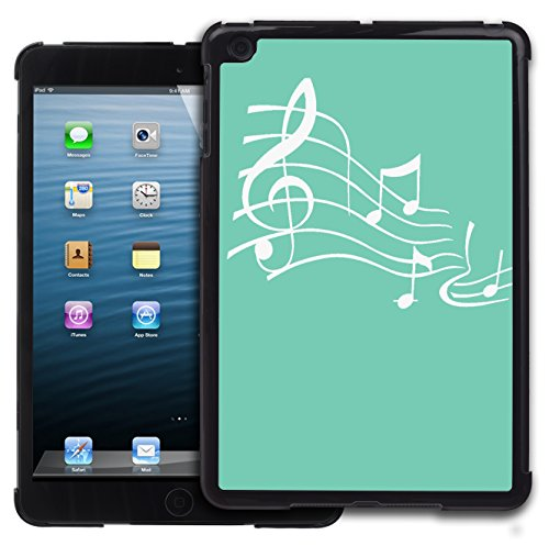 Graphic4You Musik Noten Muster Design Harte Hülle Case Tasche Schutzhülle für Apple iPad Mini 1 / 2 / 3 (Tiffany Blau) (Ipad 3 Tiffany Case Mini)