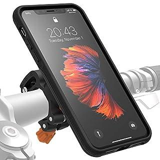 Morpheus M4s Fahrradhalterung iPhone XS Max - Handyhalterung Fahrrad iPhone XS Max - Halterung & iPhone XS Max Hülle magnetisch, DropTest, mit Quick Lock, Bike Kit passend für meisten Lenker schwarz