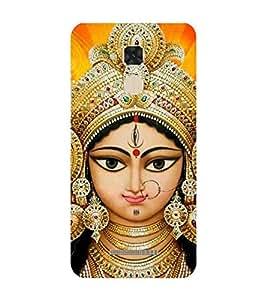 Fiobs Durga Amba Mataji Kali Mahishasurmardini Designer Back Case Cover For Asus Zenfone Max Zc550Kl :: Asus Zenfone Max Zc550Kl 2016 :: Asus Zenfone Max Zc550Kl 6A076In