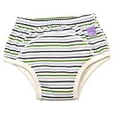Vital Innovations 5TP2-3F Bambino Mio Trainingshöschen, 2-3 Jahre, blau/grün/weiß gestreift