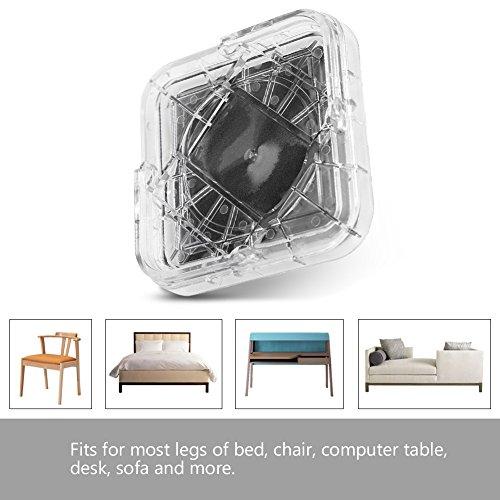 Yosooo Betterhöhungen oder Möbelerhöhungen, 8 Stück/Set, Möbelbein-Abstandshalter aus Kunststoff, Rutschfest, für Tisch, Schreibtisch, Bett, Sofa, Stühle, erhöht Ihr Bett oder Möbel Transparentweiß (Bett Stuhl Schreibtisch)