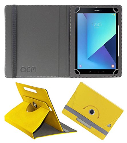 Acm Rotating Leather Flip Case for Samsung Galaxy Tab S3 Tablet Cover Stand Yellow  available at amazon for Rs.189