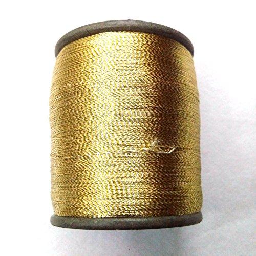 Gold & Weiß-Art Silk Twisted mit Lurex-Neem Jari-Zari-Für Crochet Nähen Stickerei Stricken Jewelry -