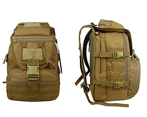 GOUQIN Outdoor Rucksack Klassische Mode Klettern Schultern Paket Freizeit Outdoor Rucksack Wasserdicht-Pc-Paket Camouflage