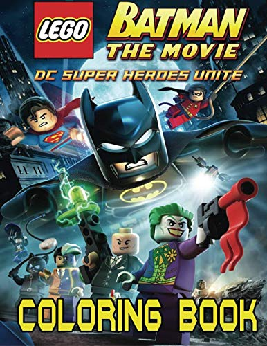 LEGO BATMAN Coloring Book for Kids and Adults - 40 illustrations