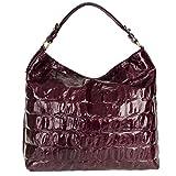 abro+ Primitivo 027161-10 Handtasche Leder 40x37x14cm burgundy