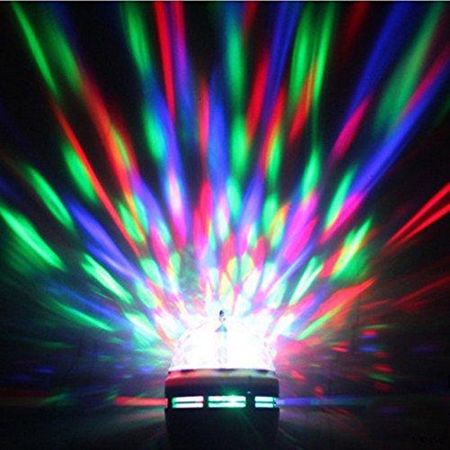 Watopi - Lampadina Edison E27, 3 W, AC85 - 260 V, colorata, con bolla rotante colorata, decorazione per interni, palcoscenico, discoteca, DJ, feste, bar