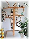 Kletterbaum für Vögel, Freisitz aus Buchenholz, Nymphensitiche Kleine Papageienarten, Sittiche, 165 cm