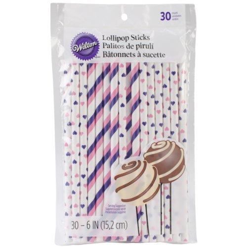 (Wilton Lollipop Sticks 630/pkg-Pink und Lila, Andere, Mehrfarbig)