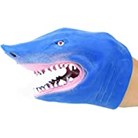 WSSB Shark Hand Puppet Baby Infant Kid Toy Plush Toys Silica Gel Spoof