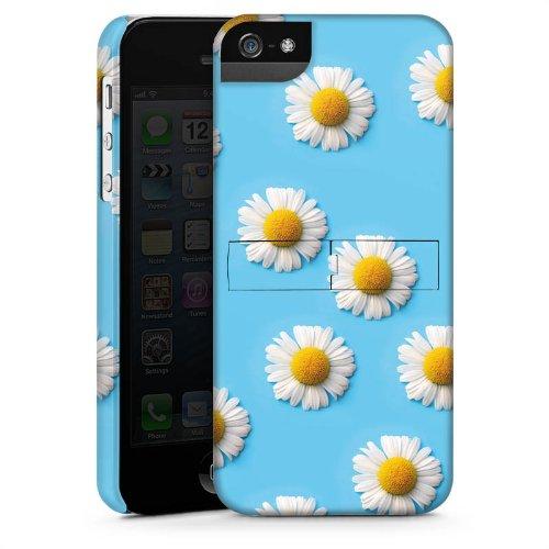Apple iPhone 5 Housse étui coque protection Pâquerette Fleurs Fleurs CasStandup blanc