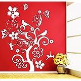 DreamKraft Bird Tree Wall Sticker For Kids Room |Living Room|Bedroom|Office PVC Vinyl Art Decals(27X33 Inch)