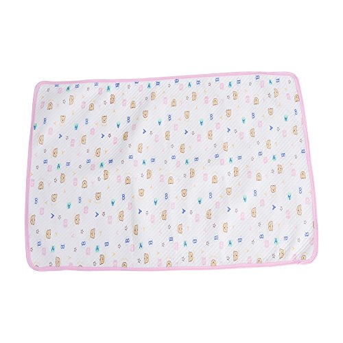 Cambio de almohadilla de algodón Orina pañal pañal pañal cubierta de colchón protector para niños pequeños bebés niños adultos(Rosa M)