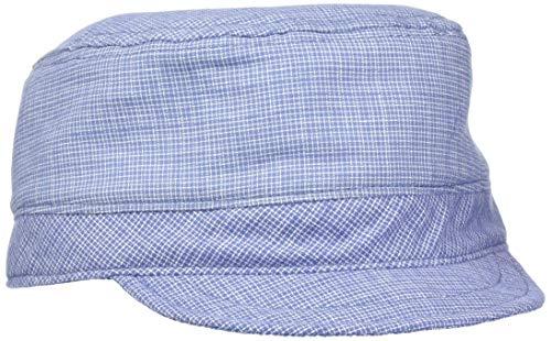 maximo Unisex Baby Tellercap, kariert Sonnenhut, Blau (Bluemeliert 69), (Herstellergröße: 49)