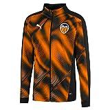 Puma Valencia CF Stadium Jacket Chaqueta De Entrenamiento, Hombre, Negro Black-Vibrant Orange, S