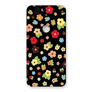 Multicolor in Black Back Case Cover for Google Nexus-6P