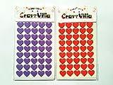 #5: Anshartandcraft Self-adhesive Foam Glitter Shapes Sticker : Set of 2 : 40 pcs Each (Glitter Heart 4)