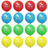 THE TWIDDLERS 100 Palloncini Buon Compleanno - Happy Birthday in Lattice Feste Decorazioni - 4 Colori Assortiti - Ideali per Tutte Le età