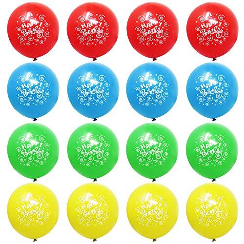 THE TWIDDLERS 100 Happy Birthday Ballons - 4 Geburtstag Party Luftballons Deko - Ideal Latex Ballon für alle Altersgruppen und Größen (Geburtstag Grüne Ballons)