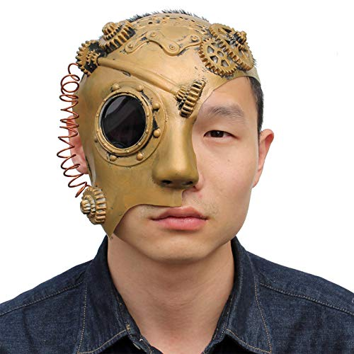 PartyHop Steam Punk Phantom der Opera Mechanical Men Venetian Half Face Mask