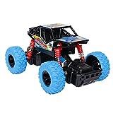 Think Wing 4WD Offroad Monster Truck Geländewagen mit Licht, Musik, Gummireifen, Stoßfest mit Feder, Maßstab 1:32, High Speed Buggy Auto Kinderfahrzeug Spielzeug für Jungen und Mädchen ab 3 Jahren
