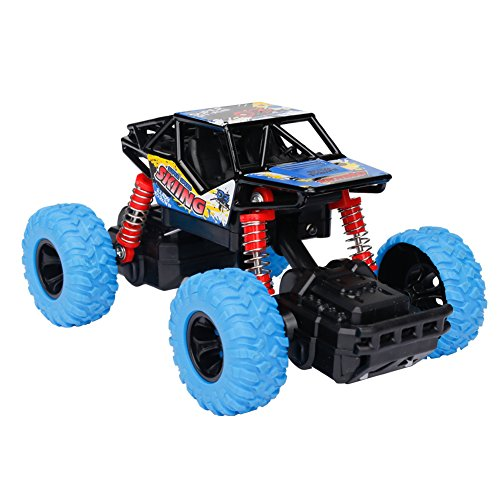 Think Wing 4WD Offroad Monster Truck Geländewagen mit Licht, Musik, Gummireifen, Stoßfest mit Feder, Maßstab 1:32, High Speed Buggy Auto Kinderfahrzeug Spielzeug für Jungen und Mädchen ab 3 Jahren - Monster-lkw-spielzeug Mädchen,