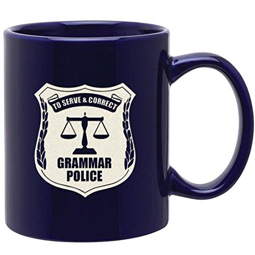 Grammar Police Gravur Kaffee Tasse-inspirierend und Sarkasmus Geschenke für Grammatik Nerd