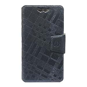 Jo Jo Krish Series Leather Pouch Flip Case With Silicon Holder ForGionee F105Dark Grey